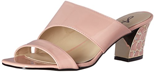 Annie Shoes Women's Tuti 2W Slide Sandal, Peach, 11 W US