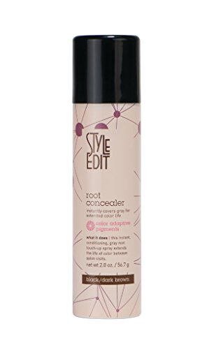 Style Edit Root Concealer, Black Dark Brown, 2 Ounce