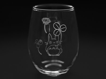 NORITAKE My Neighbor Totoro Tumbler Glass Cup ''Totoro and White clover'' Studio Ghibli T45102/TTR-2 by Skater