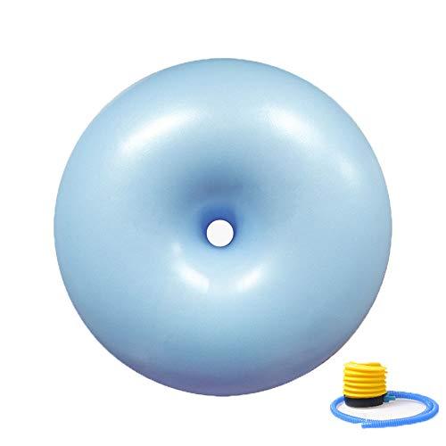 Pelota de yoga fitness, Pelota de yoga de fitness a prueba de explosiones y antideslizante de PVC, La bola de equilibrio de yoga de 50 cm se puede usar como silla de oficina, Con bomba de pie