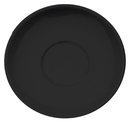 Rattleware Cremaware Black Saucer, 6.5-Inch, (Black Coffee Saucer)