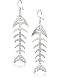 Sterling Silver Moveable Fish French Wire Earrings