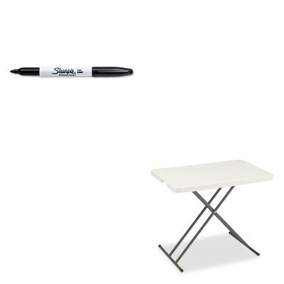 KITICE65490SAN30001 - Value Kit - Iceberg IndestrucTable TOO 1200 Series Resin Personal Folding Table (ICE65490) and Sharpie Permanent Marker (SAN30001) by Iceberg