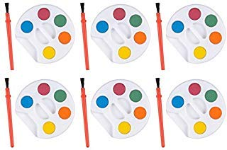 Mini Kids Watercolor Paint Sets with Brush - 24 sets -