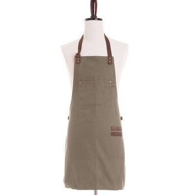 Utility Apron - Multi-Use Shop Apron with Pockets,Craftsman Canvas Work Apron (Light Brown) by Rainforce