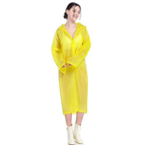 Libre Poncho Al Con Aire A Agua Mujeres De Amarillo Moda Adulto Fashion Impermeable Clásico Coat Laisla Bicicleta Viaje Capucha Prueba Trench ctqw078OYx