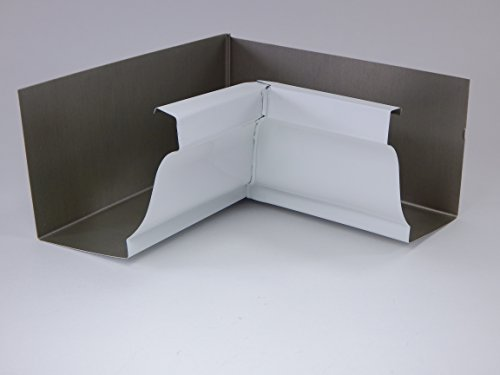 """6"""" - Inch Gutter Aluminum Inside Box Miter Color (Package of 1)"""
