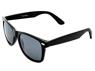 Classic Eyewear 80's Retro Large Horn Rimmed Style Sunglasses (2-Pack (1 Black, 1 Tortoise))