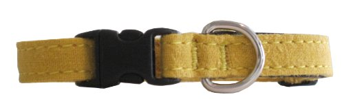 Hemp and Certified Organic Cotton Cat Collar Made in the USA Marigold, My Pet Supplies