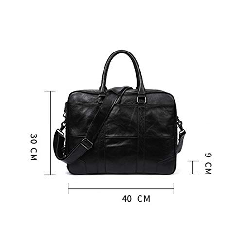 color Ordinateur En Bandoulière Portable Black Cartable Sac Homme Waveni Cuir Black 4W6Xn8PP