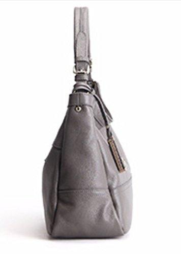 Main Cuir à Sacs Casual 15 Bandoulière à Bandoulière Gray Poches 23cm Multi à Mode Véritable Sacs Sacs 35 Femmes qwI0PwF