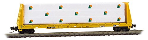 Micro-Trains MTL Z-Scale 60ft. Bulkhead Flat Car/Lumber Load TTX/Yellow #804605