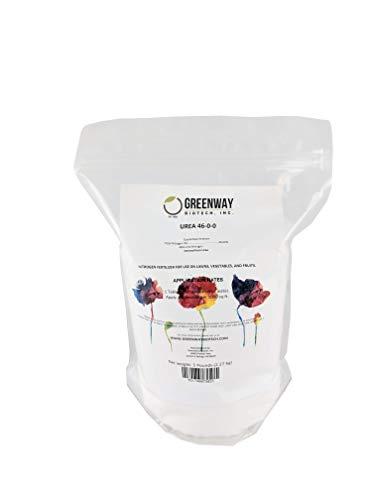 Urea Fertilizer 46-0-0 Prilled Aqua Regia Gold RefiningGreenway Biotech Brand 5 Pounds