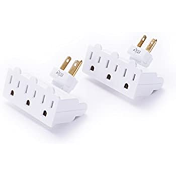 3 Outlet Grounded Swivel Wall Tap Adapter Ul Listed