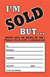I'm Sold But There May Be More Of Me Elastic Knotted Price Sold Tags with Strings Fluorescent Pack of 100 (3 1/2'' x 5 1/2'')