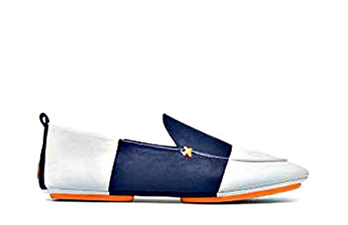 Tory Burch, Tory Sport, Color-Block Leather Loafer, North Leather, Ivory/Tory Navy ()
