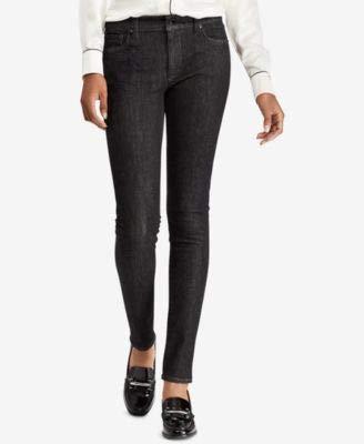 LAUREN RALPH LAUREN Womens Curvy Fit Classic Rise Skinny Crop Jeans Black 14