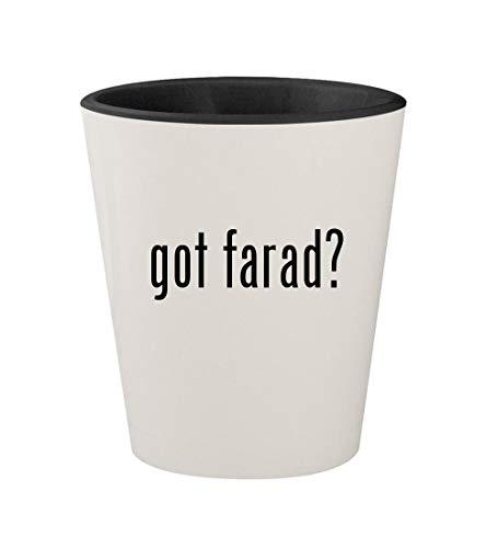 got farad? - Ceramic White Outer & Black Inner 1.5oz Shot Glass ()