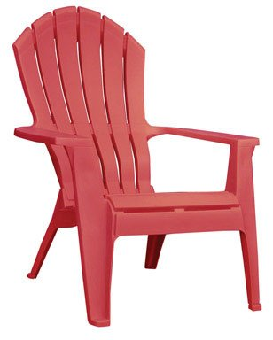 2 Each: Adams Adirondack Cherry Red Outdoor Resin Stacking Chair   250 Lb.  Capacity