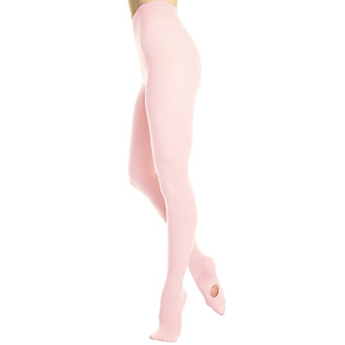 Angelina Women's Professional-Grade Convertible Ballet Tights, #247_PNK_SM