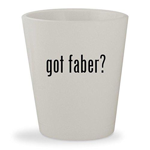 got faber? - White Ceramic 1.5oz Shot Glass