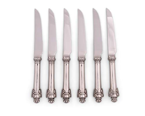 Vagabond House Pewter Medici Forged Steak Knife Boxed Set of 6 7.5