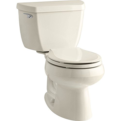 lworth Classic 1.28 gpf Round-Front Toilet with Class Five Flushing Technology and Left-Hand Trip Lever, Almond (Wellworth Two Piece Toilet)