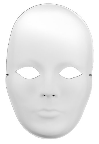 Mask-It Full Mask Female, 9.5-Inch, White (Ideas For Masquerade Masks)