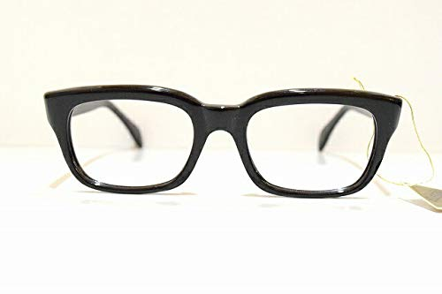 ELEGAR 696 クロタンヴィンテージメガネフレームめがね 眼鏡 サングラス黒ぶちアメリカンクラシック手作り   B07JFG1SHY