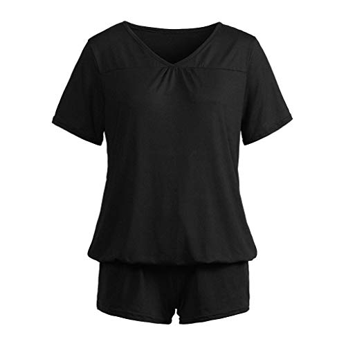 New Fashion Women's Sleepwear Nightwear Set Nightgown Casual Solid Shorts Short Sleeve Ruffled Lingerie for Ladies Elegant Sleepwear Pijama
