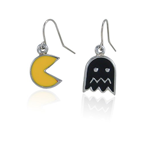 fidaShop New Cute Original Video Game Inspired PAC-Man and Ghost Dangle Earrings Jewelry (Best Videos Of Ghosts)