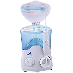 Water Flosser 600ml Dental Oral Irrigator Teeth Cleaner for Personal Braces Care &Teeth Cleaning, 7 Multifunctional Jet Tips and 10 Adjustable Water Pressure Perfect for Family