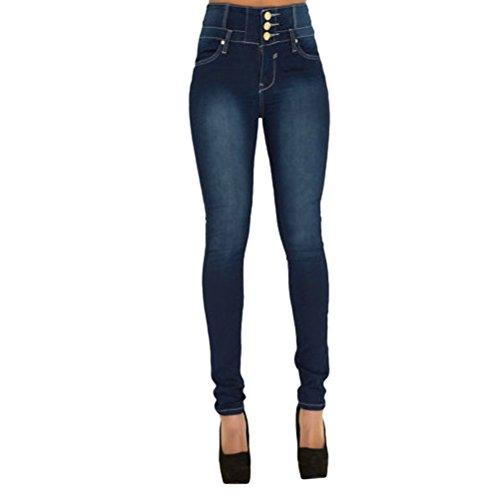 Jeans Push A Eleganti Monopetto Tinta Donne Zhhlaixing Blue Attillati Casuale Unita Dimagrante Up Curva Per Pantaloni Matita 8w6qUq