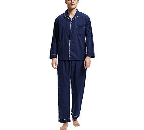 Camicie Maschile Morbido Xl Maniche Casual Camicia Set Per Uomo Da Lunghe Pigiama Notte Nero wnvOSw