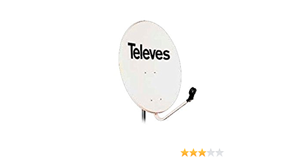 Televes 790101 - Antena parabolica hierro 800 blanco: Amazon ...