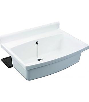 Becken Waschküche sanit maxi becken mit überlauf weiß amazon de baumarkt