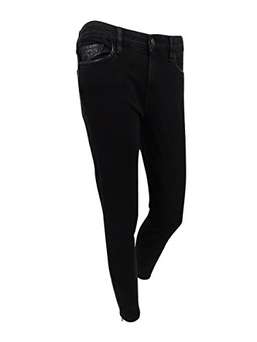Lauren Ralph Lauren Womens Vartan Solid Colored Skinny Jeans Black 12 (Ralph Lauren Leather Jeans)