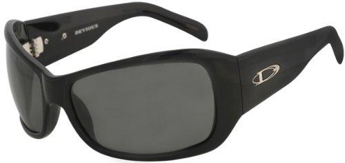 Divine - Devious - Shiny Black Frame-Smoke Polarized - Divine Sunglasses
