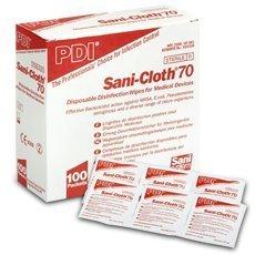Pdi sani-cloth 70 toallitas con alcohol (sobres), Paquete de 100: Amazon.es: Salud y cuidado personal