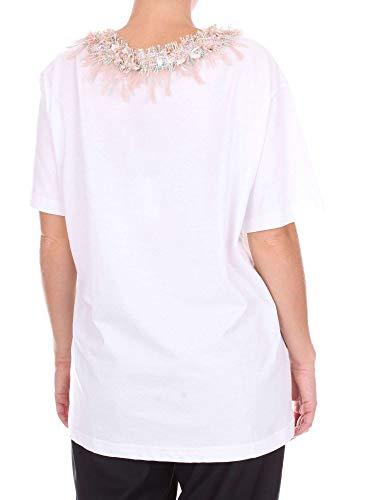 Blumarine Camiseta 1467 Camiseta Blanco Camiseta 1467 Blanco Blumarine Blumarine Mujer Blanco Mujer Blumarine Mujer 1467 rPqrU7xwT