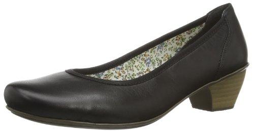Rieker 41770 - Zapatos de tacón de material sintético mujer negro - Schwarz (schwarz 02)