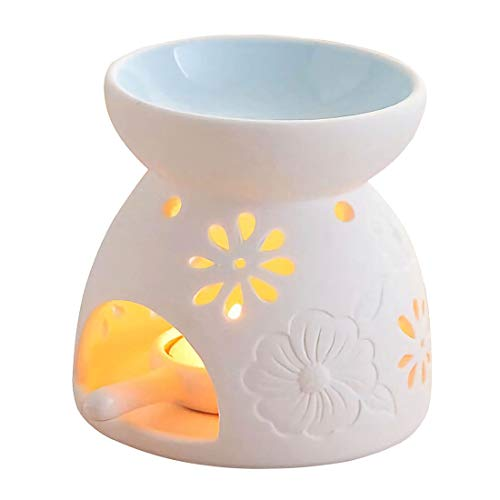 Singeek Ceramic Tea Light Candle Holder/Wax Melt Warmer, Essential Oil...
