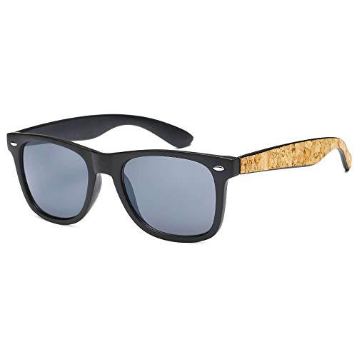 Classic Retro Wayfarer Sunglasses Cork Accent UV400 Protection - Thacher