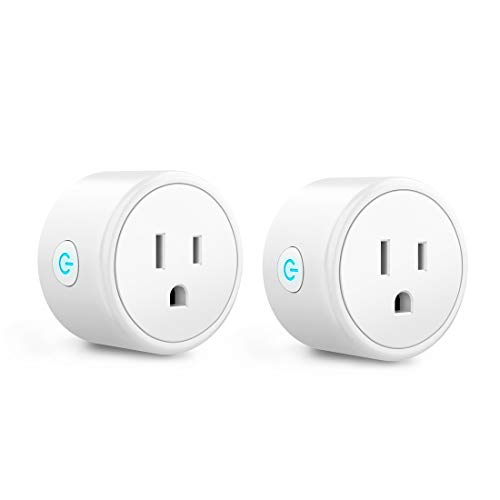 Mini Smart Plugs - Aoycocr WIFI Outlet Compatible with Alexa, Google Home & IFTTT, Remote Control with Timer Function Switch,ETL/FCC/Rohs Listed Socket, White(2 Pack) (Home Decos)