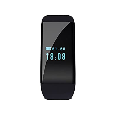 Waterproof Men Women Smart Heart Rate Monitor Wristband Sport Watch Bracelet for iPhone Android Phone,with Bluetooth 4.0 Fitness Activity Tracker-Pedometer,Sleep Tracker,Calorie Counter(Black)