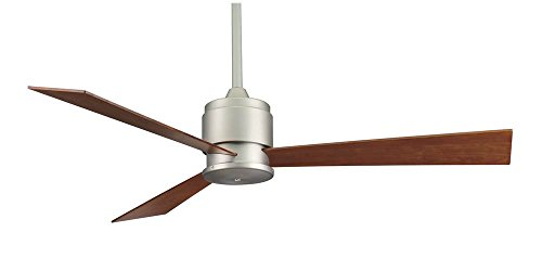 Fanimation Zonix - 54 inch - Satin Nickel with Cherry/Walnut Reversible Blades and Wall Control - FP4620SN from Fanimation