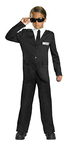 Black Harlequin Half Mask (Disguise Boy's Men in Black 3 Child Jumpsuit and Glasses Costume Small 4-6)