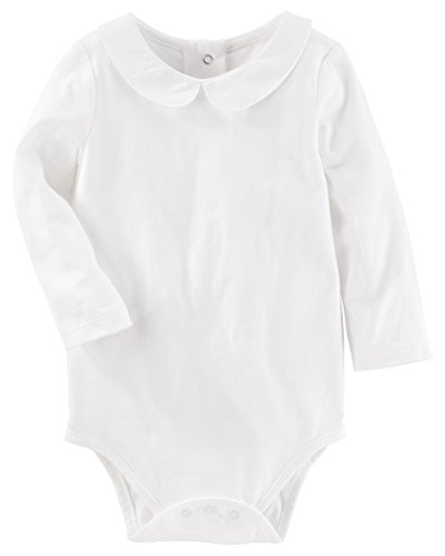 Osh Kosh Baby Girls' Bodysuits, White, 18 Months