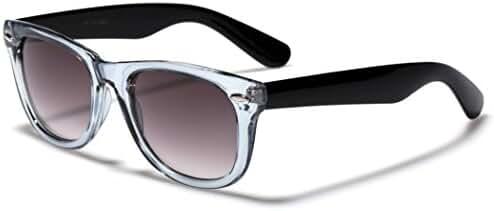Colorful Two Tone Frame Retro Fashion Sunglasses