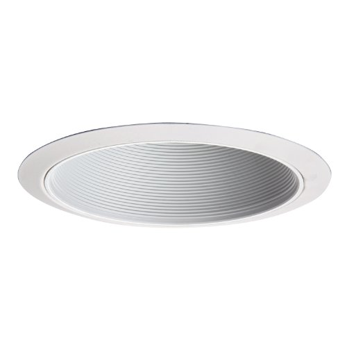(HALO Recessed 312W 6-Inch Coilex Narrow Lamp Opening Trim with Baffle, White)